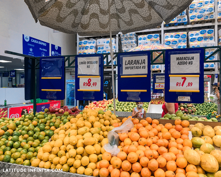 preço das frutas no Brasil Atacadista