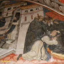 affresco monastero benedettino Subiaco