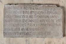 Santa Maria in Cappella - Epigrafe Consacrazione 1090