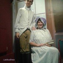 Sonia vestita come ai tempi della Austen