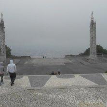 nebbia sulla scalinata di Samerio