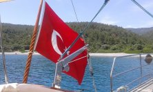 bandiera turca del caicco
