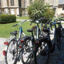 biciclette nel cortile