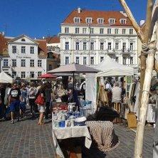 mercato medievale artigianato in piazza
