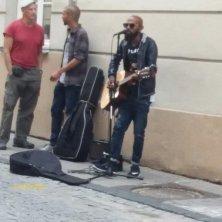 musicista di strada Riga