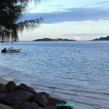 spiaggia di Cerf Island al tramonto