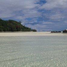 striscia di sabbia per la bassa marea