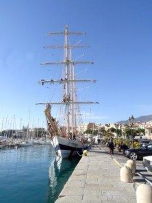 al porto di Sanremo