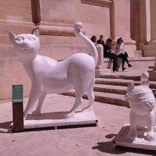 statue in giro per La Valletta