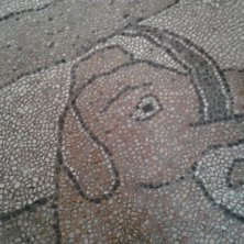 particolare del mosaico