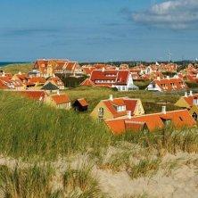 case vicino la spiaggia