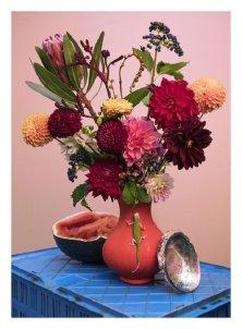 BAROK BUREZ - Vaso con fiori, Athos Burez