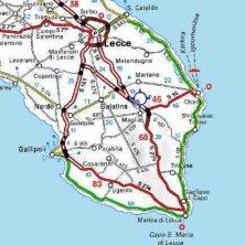 mappa del Salento