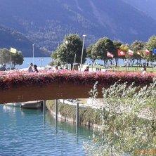 ponte legno sul lago