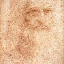 Autoportrait attribue a Leonardo da Vinci, photo © DR