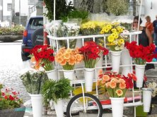 bancarella di fiori