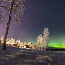 Artic Igloo Hotel e aurora boreale