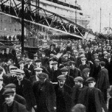 foto d'epoca dei lavoratori cantieri Titanic