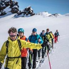 con la guida alpina