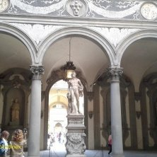 cortile del Palazzo Medici Riccardi Firenze dove nacque Caterina