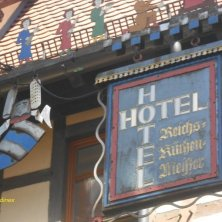 insegna curiosa di un hotel a Rothenburg