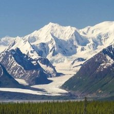 Alaska Tazlina Glacier near Eureka foto Michael DeYoung