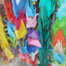gru colorate votive a Hiroshima