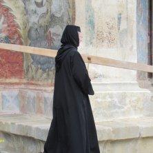 monaca al monastero Voronet Bucovina