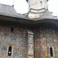 parete affrescata Moldovita Bucovina
