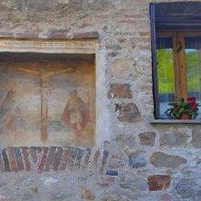 Arqua' Petrarca-affresco -antico Ospedale della Madonna-V.Galuppo