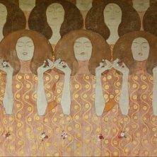 Gustav Klimt, Fregio di Beethoven. Dettaglio parete destra (Coro degli angeli del Paradiso), Secessione – © Oliver Ottenschläger