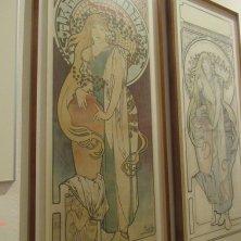 dipinti Mucha art nouveau al museo