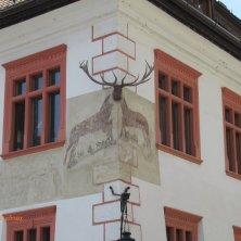 palazzo decorato a Sighisoara Dracula