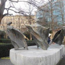 scultura giardino dei Francescani Praga