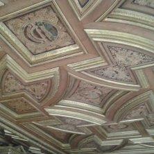 soffitto intagliato Castel Velturno