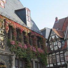 Municipio e case a graticcio Quedlinburg