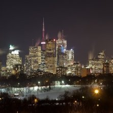 Downtown Toronto at Night in the Winter