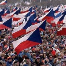 bandiere Rivoluzione di Velluto a Praga