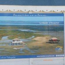 cartello di benvenuto al bacino di Arcachon