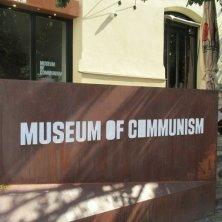 insegna Museo del Comunismo Praga