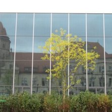 riflessi sul Museo Bauhaus a Dessau