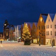 Jul på Bryggen i Bergen