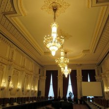 lampadari cristallo interno Parlamento