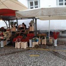 bancarella di fiori al mercato