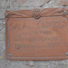 insegna Sala del Capitolo abbazia di Polirone