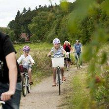 in bici con tutta la famiglia