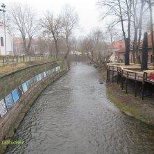 fiume al centro di Vilnius