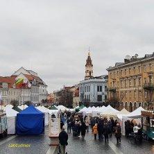 mercato in piazza del Municipio Vilnius