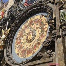 orologio della torre del Municipio di Praga