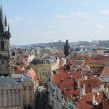 vista di Praga dalla torre del municipio